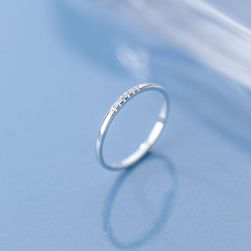 Nhẫn Bạc | Nhẫn Bạc Nữ Đính Đá Đơn Giản N2464 – Bảo Ngọc Jewelry