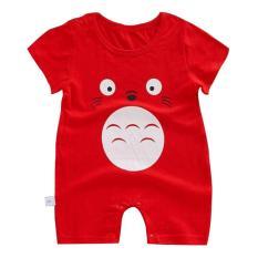 Áo Liền Quần 100% cotton ngắn tay cho bé trai bé gái Hàng Chuẩn Shop Vải dày mịn mát cho bé từ 6-14Kg