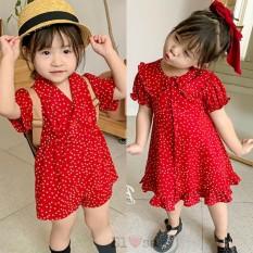 Váy bé gái hoặc Jum chấm bi đỏ