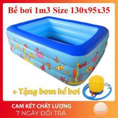 Bể Bơi Phao 3 Tầng 130cm 135cm dày dặn đàn hồi tốt đem đến không gian vui chơi và tắm mát ngay tại nhà cho bé yêu Giảm giá sốc 50% bảo hành 1 đổi 1 – Sản Phẩm Giá Tốt, Chất Lượng Vượt Trội