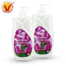 2 Sữa Tắm 1200ml Dưỡng Trắng Da Sữa Dê Hương Hoa Tulip Bigcare