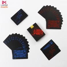 Bộ Bài Tây Đen Cao Cấp – Bài Tây Nhựa PVC Chống Nước Nền Đen – Đàn Hồi Tối – Bộ Bài Poker Cao Cấp Nền Đen Chính Hãng Amalife