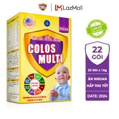 Sữa non Colosmulti Pedia chuyên biệt dành cho trẻ biếng ăn chậm tăng cân, hộp 22 gói x 16g