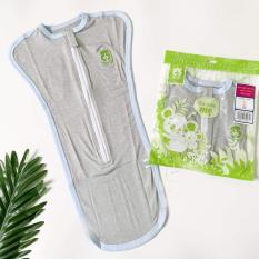 Túi ngủ kéo khóa 2 chiều siêu co dãn Mipbi 3 size cho bé 0-9 tháng