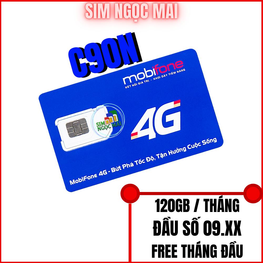 Sim 4G Mobifone C90N Miễn Phí 120GB DATA – ĐẦU SỐ 093 – 090