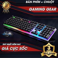 Bàn phím – Bàn phím chơi game-Combo bàn phím và chuột giả cơ G21, Bộ bàn phím giả cơ và chuột game dành cho game thủ G21 led đa màu
