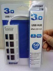 Bộ chia cổng USB 3.0 hub USB 3.0 USB hub có công tắc, thiết kế 4 công tắc bật tương ứng kèm theo 4 cổng và đèn LED báo tín hiệu giúp dễ dàng quản lý kết nối