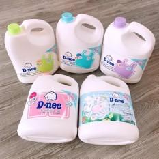 (Date: 2023) [ GIẶT SẠCH – THƠM LÂU – MỀM VẢI ] 01 Bình x 3000ml Nước giặt xả quần áo, vải Dnee Thái Lan.