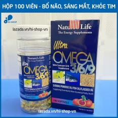 Viên dầu cá Omega 3 6 9 Nature Life Bổ não, sáng mắt, khỏe mạnh tim mạch, tăng cường trí nhớ – Hộp 100 viên thành phần dầu gấc, dầu cá 1000mg, EPA 180mg, DHA 120mg