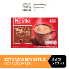Bột cacao sữa Nestlé Hot Cocoa Mix hộp giấy 6×20,2g