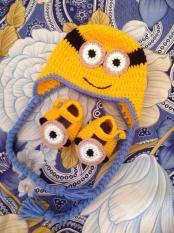 Set giày và mũ len cho bé 0-12 tháng – Minion