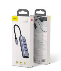 Cáp chuyển Type C đa năng sang 4 USB 3.0 và đầu HDMI chuẩn 4K dành cho Macbook thương hiệu Baseus – Phân phối bởi Baseus Vietnam