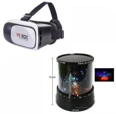 Kính thực tế ảo VR Box thế hệ thứ 2 (Đen phối trắng) +Đèn chiếu sao lên tường cực sáng và rất đẹp