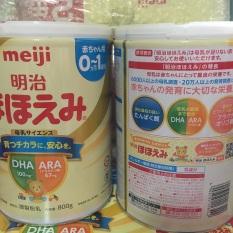 Combo 2 lon sữa meiji 800g 0-1