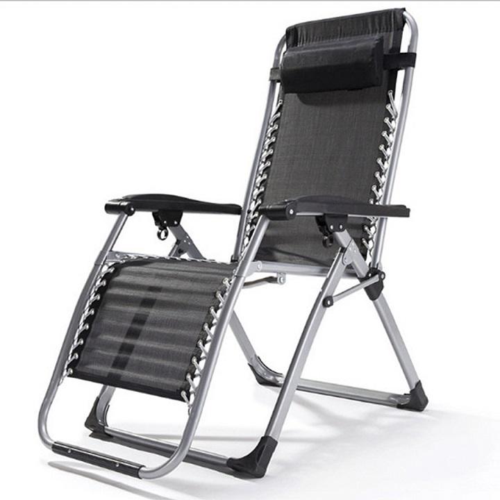 Ghế xếp thư giãn thông minh Kachi MK171, ghế thư giãn văn phòng, ngoài trời – Màu đen