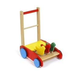 Xe đẩy tập đi ,xe tập đi bằng gỗ 3 con gà cao cấp cho bé yêu, gỗ tự nhiên, gia công sắc xảo, màu sắc bắt mắt