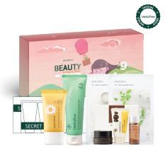 [Phiên bản đặc biệt BEAUTY INSIDE Box 2019 ] Bộ sản phẩm làm sạch tế bào chết từ lúa mạch và chống nắng toàn diện cho da Innisfree Beauty Inside Box 2 – Khám phá quà tặng may mắn khi mở hộp