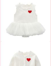 Bodysuit in style Hàn Quốc mẫu mới 2020 kiểu dáng cực xinh thời trang Hè Thu cho bé gái từ 0 đến 12 tháng+kèm áo khoác
