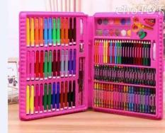 Hộp bút màu 151 chi tiết, Bộ bút chì màu 151 món cho bé vui sáng tạo