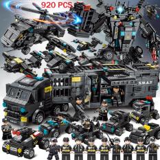 [920 CHI TIẾT – 51 Tạo Hình] Bộ Đồ Chơi Xếp Hình Lego Oto Swat, Lego Chiến Hạm, Lego Tàu Chiến, Lego Xe Tăng, Lego Robot