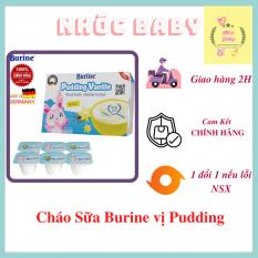 Cháo sữa Burine Pudding Vani [1 Lốc 6 Hủ] [6x50g] 300g Date 12/2021