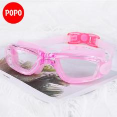 Kính bơi người lớn POPO 1940T kính bơi nữ, nam mắt kính trong có gắn nút bịt tai ngăn nước, chống tia UV, kiểu dáng thời trang