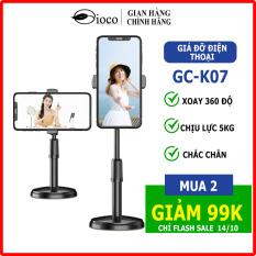 [GIOCO]-Giá đỡ điện thoại di động chắc chắn,giá livestream để bàn K07, có thể điều chỉnh độ cao, xoay 360 độ, để điện thoại, ipad, học online Xem Video.