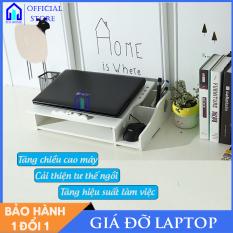 Giá để máy tính laptop bằng gỗ để bàn [ĐẾ TẢN NHIỆT] đẹp đa năng thông minh – Ico Home