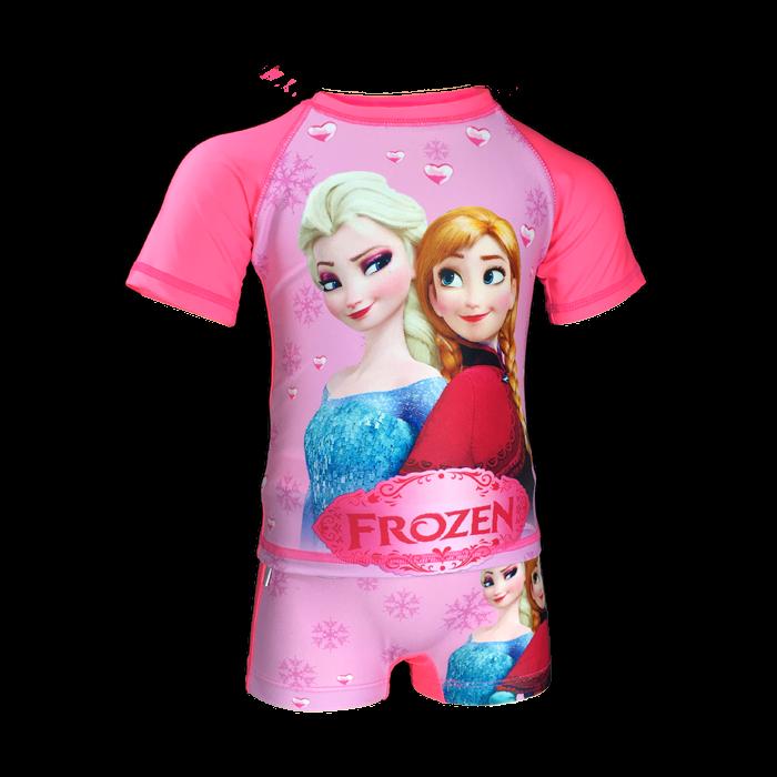 Đồ bơi bé gái quần rời họa tiết công chúa Elsa size từ 10kg đến 22kg