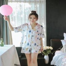 Đồ bộ pijama nữ đồ mặc nhà phi lụa hàng xuất khẩu hình xương rồng – B405 – Thời trang – Du lịch – Thời trang nữ – Đồ ngủ – nội y – Đồ ngủ nữ