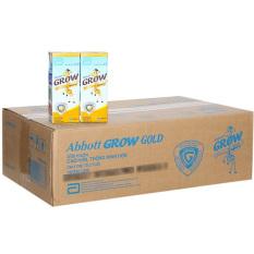 Thùng 48 hộp sữa nước Abbott Grow Gold hương vani 180ml – HSD luôn mới