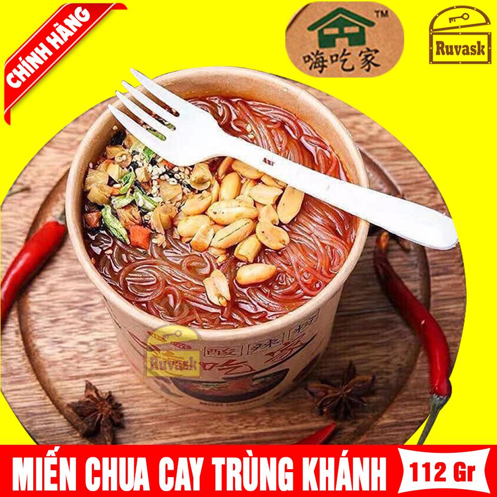 Hộp Miến Trùng Khánh Chua Cay Nắp Trắng TM 112g - Miến Khô Ăn Liền Nội Địa Trung Quốc -...