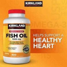Viên dầu cá Kirkland Fish Oil 1000mg 400 viên