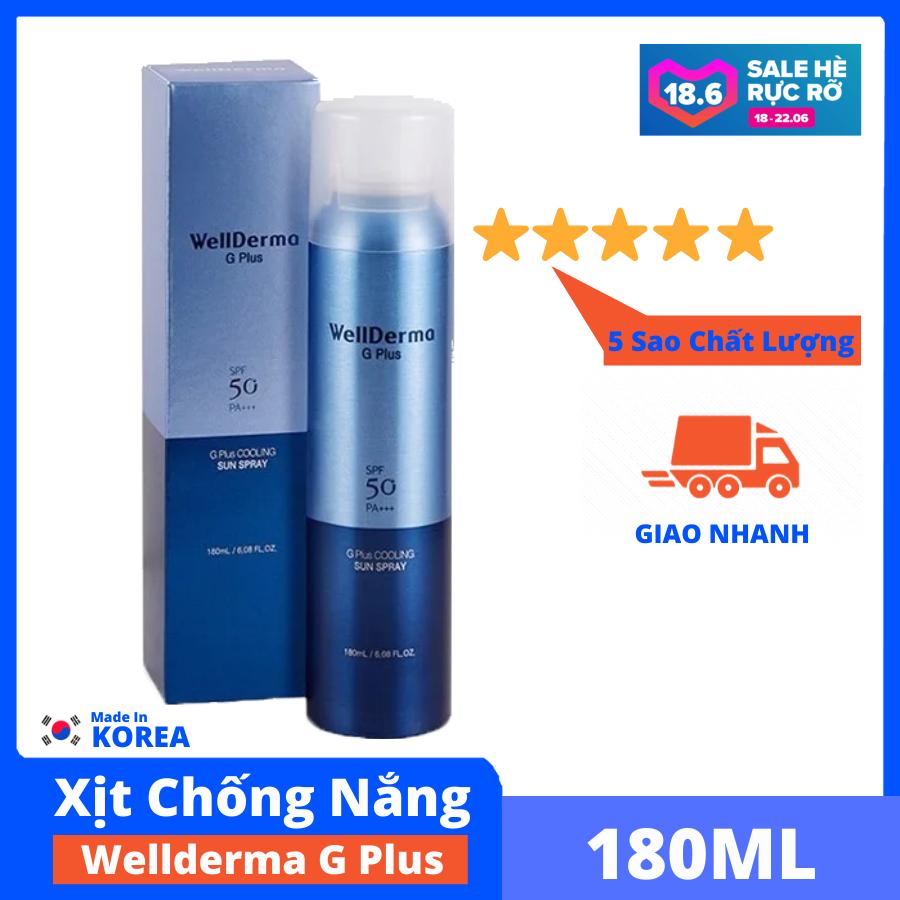 Xịt Chống Nắng Wellderma G PLus Cooling Sun Spray mát da, tăng độ ẩm, cung cấp khoáng, làm dịu da, bảo vệ da CiCi88