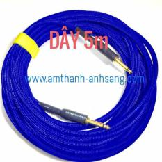 [dây tín hiệu nhạc cụ] dây 2 đầu Jack 6 ly mono dài 5m dây rắc 6.5mm