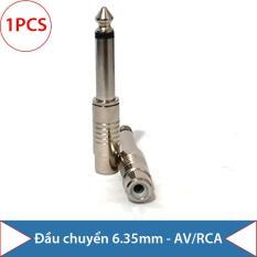 Đầu jack chuyển Audio 6.5/6.35mm ra AV/RCA, hệ âm Mono (mạ Niken – 1 chiếc)