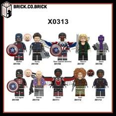 The Falcon and The Winter Soldier Đồ chơi Non Lego Super Hero Siêu anh hùng MCU Marvels mô hình US Agent Sharon X0313