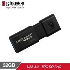 [Nhập mã EXCLUSIVE giảm 10%] USB 32GB Kingston DT100G3 nắp trượt tiện dụng – Hãng phân phối chính thức (PT1.1)