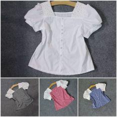 áo sơ mi cổ vuông vòng 1 từ 80 đến 120(giá 1 áo)