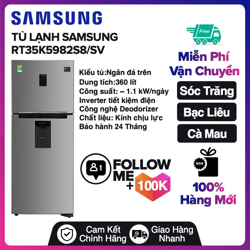 Tủ lạnh Samsung Inverter 360 lít RT35K5982S8/SV Miễn phí vận chuyển nội thành Sóc Trăng, Bạc Liêu, Cà Mau