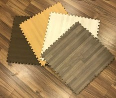 Combo 10 Thảm vân gỗ 45cmx45xmx1cm
