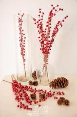 1 cành đào đông (cherry) giả