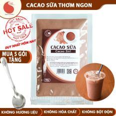 Bột Cacao sữa thơm ngon và tiện lợi Light Cacao , đặc biệt không pha trộn hương liệu , gói 50g