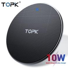 Sạc không dây cao cấp TOPK B01W 10W Qi Fast Wireless Charging Pad LED for iPhone, Samsung Galaxy