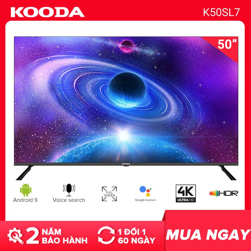 Smart TV Kooda 50inch hệ điều hành Andorid 9 - K50SL7 - Tivi giá rẻ chất lượng - Bảo hành...