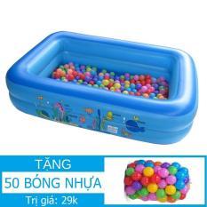 Nhà bóng Chữ nhật (120x85x35cm) Tặng 50 bóng nhựa KamiToy Nhà banh Lều Banh Bể bơi Hồ bơi Phao bơi