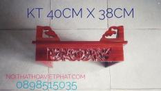 Bàn thờ treo tường CHẠM HOA SEN KT 40 X 38CM