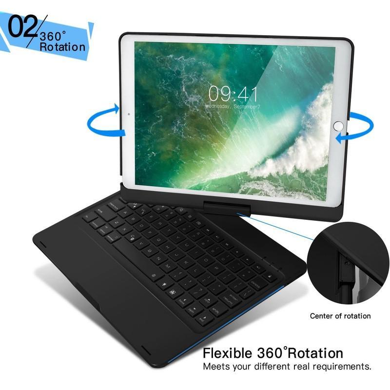 [HÀNG NHẬP KHẨU HOT] Bàn phím Bluetooth F360 cho iPad Pro 10.5 có 7 màu đèn - Bảo hành 6...