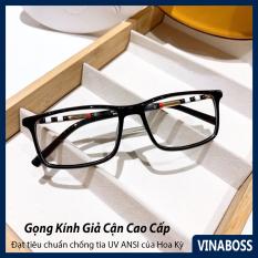 Kính giả cận nam nữ Hàn Quốc tròng chống tia UV VNBBR8080 – Gọng kính cận nam nữ không độ cao cấp – Tặng kèm hộp đựng và khăn lau