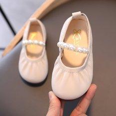 Giày Búp Bê Đính Ngọc Trai Giả Thanh Lịch Cho Bé Gái 2-18 Tuổi
